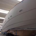 Verniciatura Pershing Yacht Olbia Sardegna