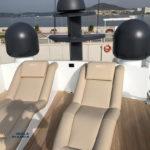 Nuova cuscineria Pershing 90 con brand Refitting Olbia